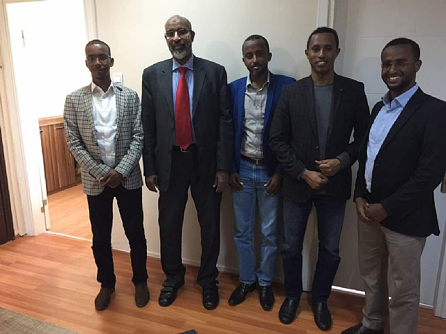 Head  of MU Rector's office and  director of the international office for Mogadishu Univesity visited DAD office