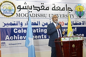 DAD Director General Dr. Ali Sheikh Ahmed Participated Mogadishu University's 20th Anniversary